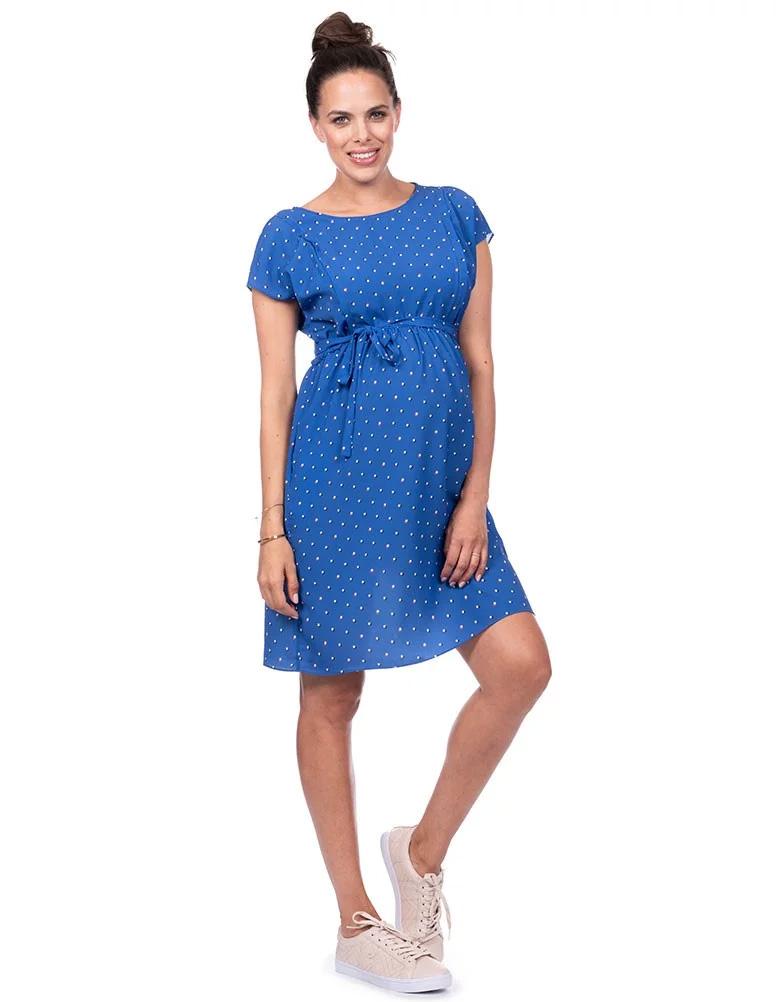 c3ea7e86d2d Seraphine CHER  lt nursing correspondence gt  maternity dress - blue dot ...