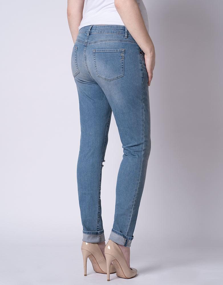 0da946f4353e6 solregaro: Seraphine XAVIER slim boyfriend maternity jeans - blue ...