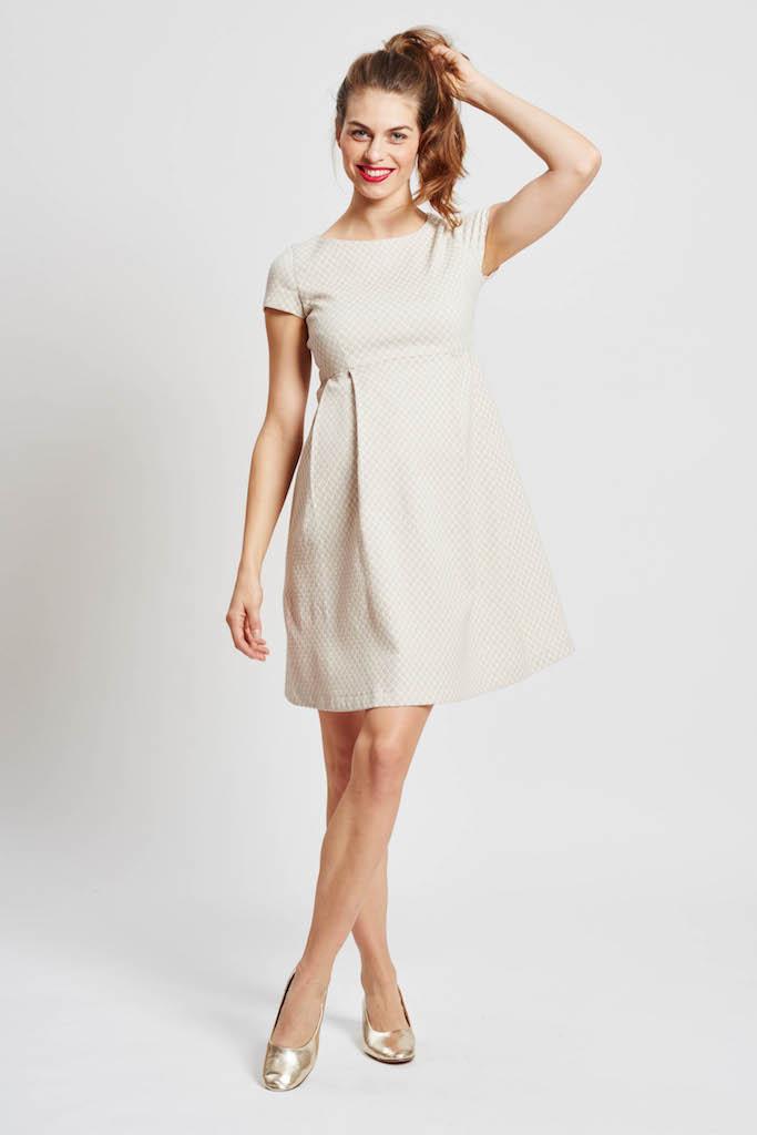 a8374ac0101 solregaro  SLACKS  amp  CO DAISY front desk pleats maternity dress ...
