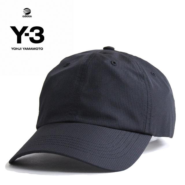 Y3 キャップ Y-3(adidas×Yohji Yamamoto)RIPSTOP CAP ワイスリー アディダス ヨージヤマモト ロゴ 刺繍 ブラック 黒 メンズ 男性 小物 帽子 アクセサリー ストリート ワンポイント