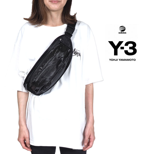 Y-3(adidas×Yohji Yamamoto) Y3 ワイスリー アディダス ショルダーバッグ WAISTPACK メンズ レディース ユニセックス ポーチ ブラック BAG ヒップバック 斜め掛け 肩掛け