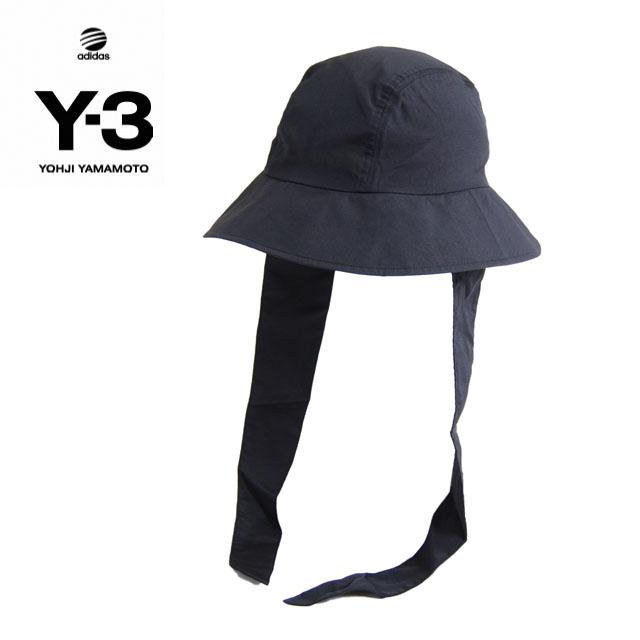 Y3 ハット Y-3(adidas×Yohji Yamamoto) FLAP BUCKET ワイスリー アディダス ヨージヤマモト ロゴ 刺繍 ブラック 黒 メンズ 男性 ドゥーラグ DURAG ドゥラグ 小物 帽子 アクセサリー ストリート ワンポイント