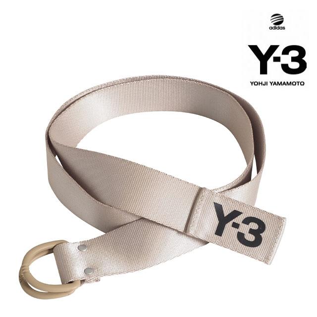Y-3(adidas×Yohji Yamamoto) Y3 LOGO BELT STONE KHAKI A7EK ワイスリー アディダス ヨージヤマモト ロゴ リングベルト ベージュ カーキ メンズ 男性 レディース 女性 小物 アクセサリー ストリート ワンポイント S M L サイズ