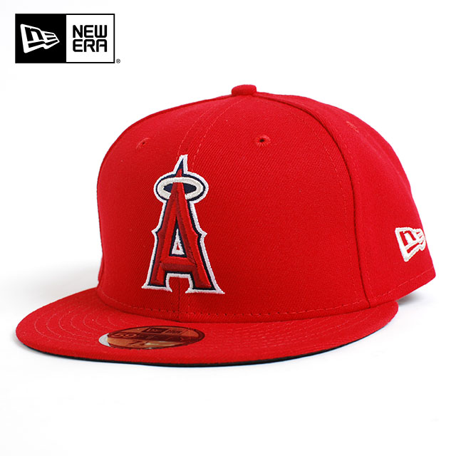 Red Cap 59FIFTY Size 7 1//4 Acrylic//Wool New Era Anaheim Angels Official