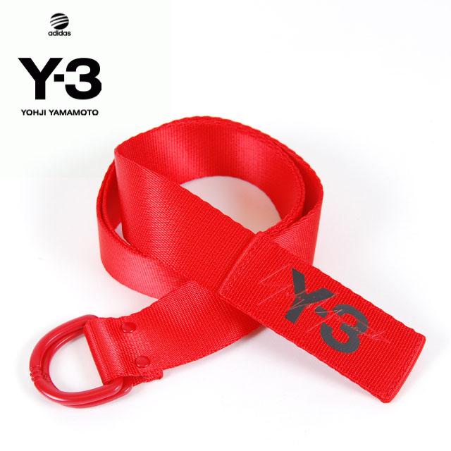 Y-3(adidas×Yohji Yamamoto) Y3 LOGO BELT RED ワイスリー アディダス ヨージヤマモト ロゴ リングベルト レッド 赤 メンズ 男性 レディース 女性 小物 アクセサリー ストリート ワンポイント