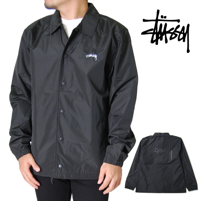 STUSSY ステューシー コーチ ジャケット メンズ S M L XL XXL 2L 3Lサイズ ブラック レディース CRUIZE COACH JACKET BLACK アウター 大きいサイズ 2XL