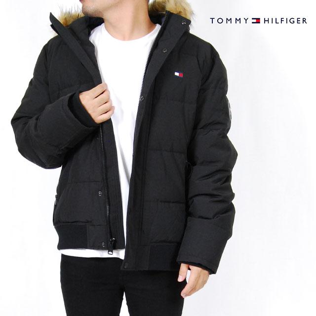 トミーヒルフィガー パーカー アウター 中綿 ショート スノーケル ジャケット メンズ S M L XL XXLサイズ ブラック USモデル TOMMY HILFIGER ブルゾン 長袖 USモデル 2L 3L 大きいサイズ