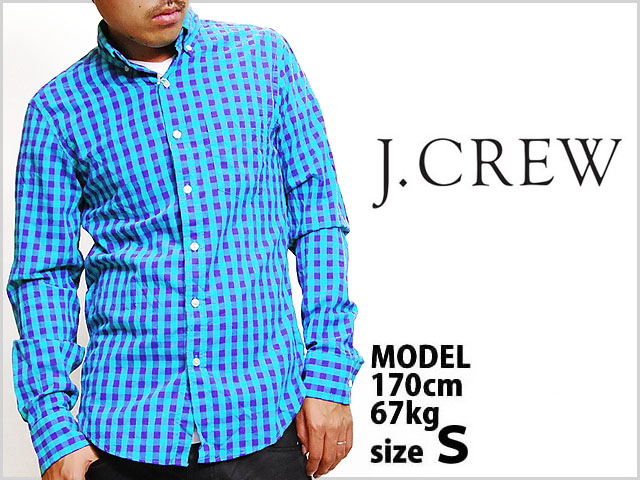 f52df4710c6 Correspondence product J.CREW COTTON L S SHIRT SLIM FIT GREEN PURPLE BLOCK  CHECK J. Crew flannel shirt Longus Reeve Y shirt shirt long sleeves tops  slim ...