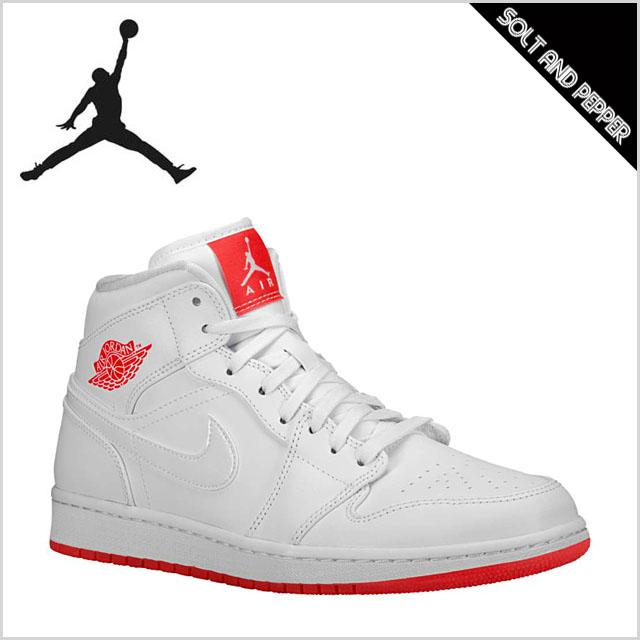 SOLT AND PEPPER | Rakuten Global Market: Jordan sneakers NIKE JORDAN AJ1  MID WHITE INFRARED 23 Nike Jordan mid white infra red white red red sneakers  shoes ...