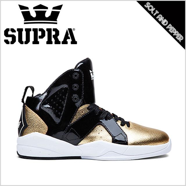Supra MAGAZINE Black/Gold/White Men Shoes shoes onlin hot sale