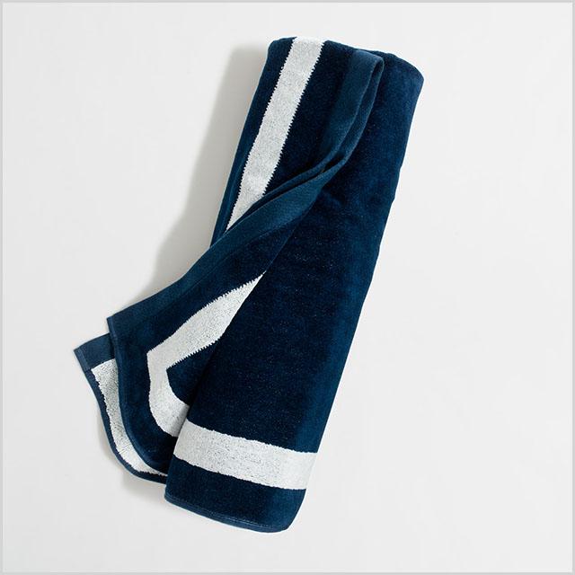 jcrew large beach towel in anchor navy jcrew large beach towels anchor - Large Beach Towels