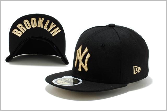 NEWERA KIDS NEW YORK YANKEES UNDERVISOR BROOKLYN BLACK GOLD ニューエラ キッズ  ニューヨーク ヤンキース アンダーバイザー ブルックリン 273400be629