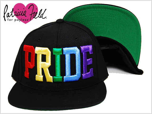 c58cd63d2d6 PATRICIA FIELD PRIDE pride SNAPBACK CAP BLACK MULTI Patricia field Bogue  snapback cap black hat hat black and white men male lady s woman accessory  ...