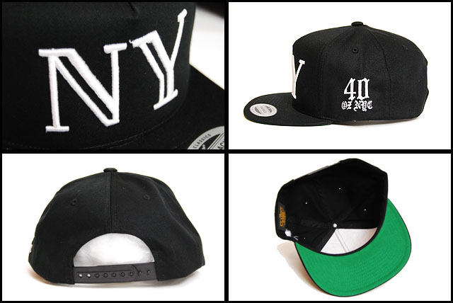 0eb2b6cd7cd nyc ny logo snapback cap black white forty ounce new york logo snap ...