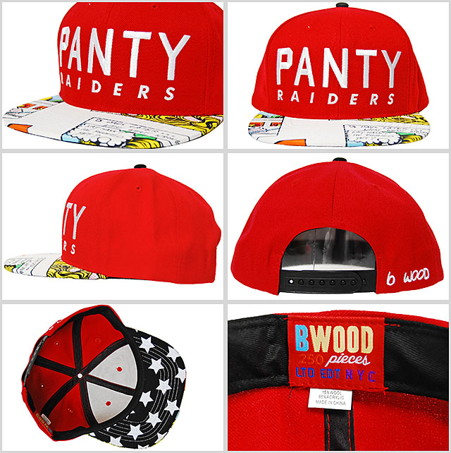 BRIAN WOOD PANTY RAIDERS USA FLAG SNAPBACK CAP WINS OUT GLOW RED Brian  panty Leigh Sanders snap back Cap Red Red comic cartoon Hat B WOOD men s  male women s ... a5774591964