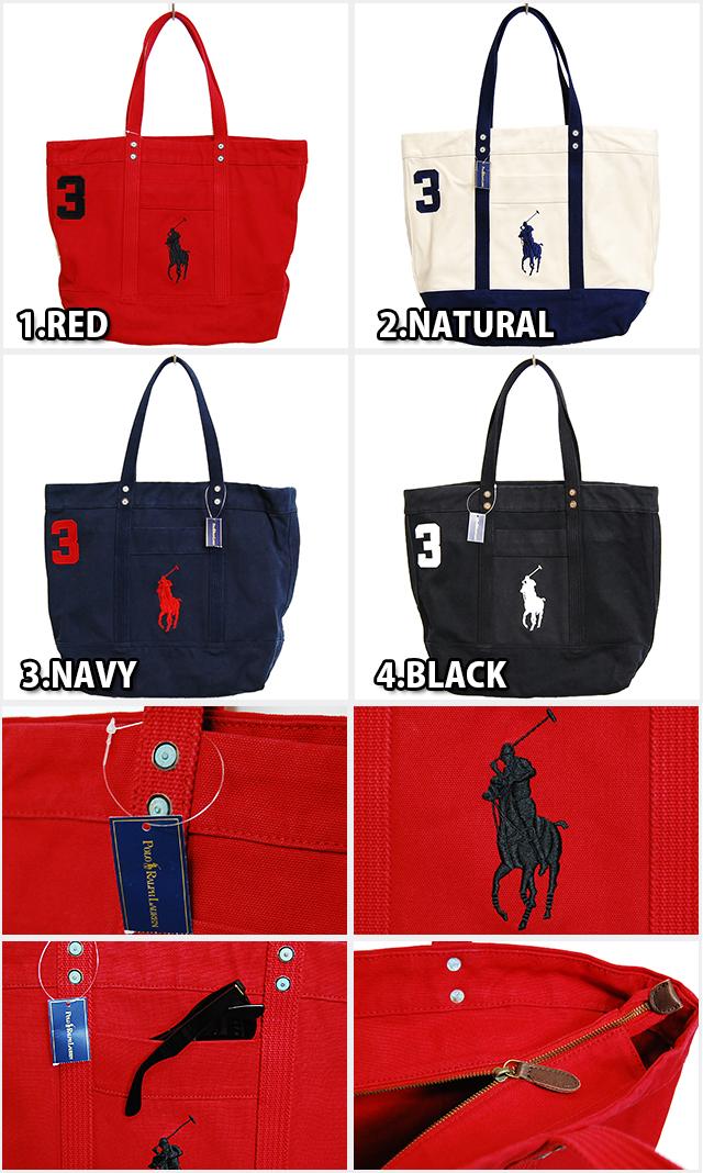 Ralph Lauren Pony Canvas Handbag Darkblue Red - Jaimonvoyage.com fadc8165ec33a