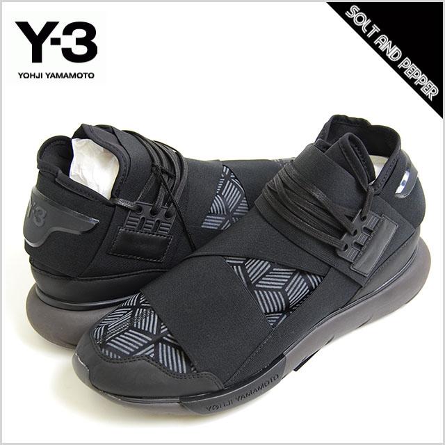 アウトレット Y-3(adidas×Yohji Yamamoto) アディダス ワイスリーヨウジヤマモト QASA HIGH BLACK カーサ ハイ スポーツシューズ ハイカット スニーカー 靴 シューズ ブラック 黒 メンズ 男性 y3
