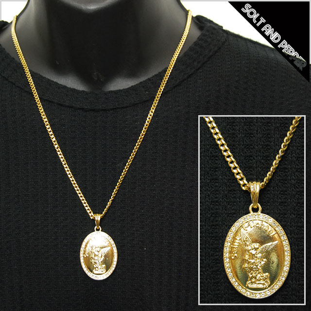 Solt and pepper rakuten global market no brand saint michael no brand saint michael necklace gold brand michael mont saint michel gold chain necklace diamond cut mozeypictures Choice Image