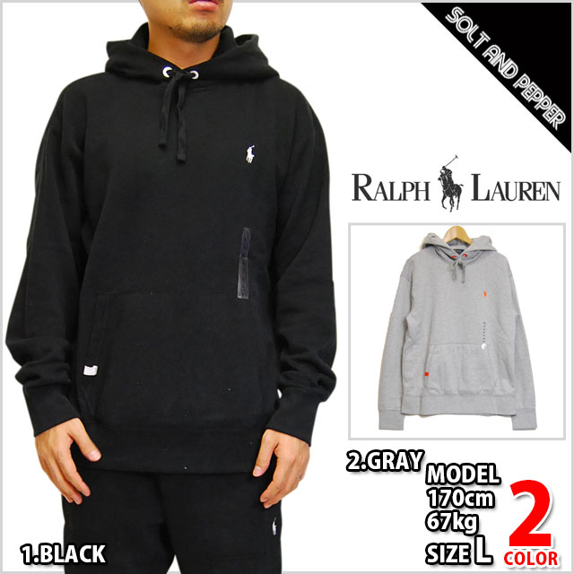 POLO RALPH LAUREN Polo Ralph Lauren HOODY GRAY BLACK TOPS Hoodie hoodies  pullover gray gray black black long sleeve MENS men's male women female  HIPHOP ...
