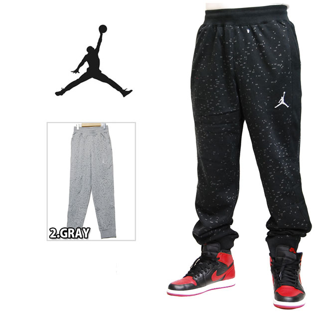 2fbd0b812469 JORDAN BRAND FLIGHT FUTURE REMIX PANT 619387 BLACK GRAY Jordan brand sweat  pants Jersey black grey mens men women black ash HIPHOP hip hop air NIKE  Nike ...