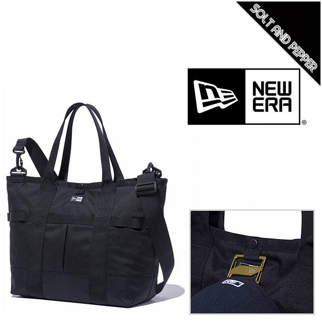 NEWERA ニューエラ TOTE BAG BLACK WHITE LOGO トートバッグ ブラック 黒 ホワイト 白 ロゴ 収納 鞄 メンズ 男性 レディース 女性 小物 アクセサリー 正規品 NEW ERA 11099432