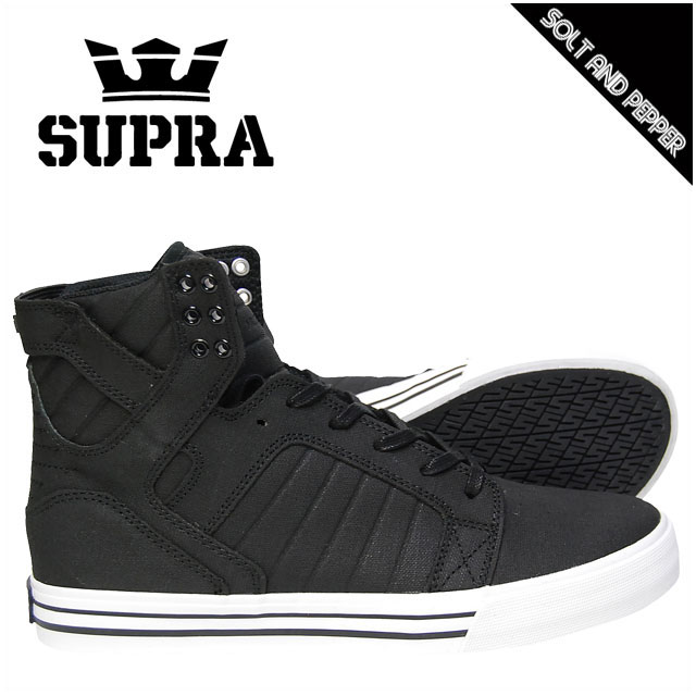 SUPRA スープラ FOOTWEAR SKYTOP BLACK TUF ブラック 黒 WHITE ホワイト 白 スニーカー フットウェアー スカイトップ メンズ 男性 レディース 女性 スケート シューズ 靴 ストリート スケート カジュアル ブランド ハイカット 08003005 S18272 BKW