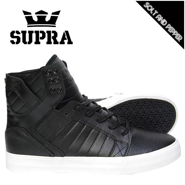アウトレット SUPRA スープラ FOOTWEAR SKYTOP BLACK LEATHER ブラック 黒 WHITE ホワイト 白 スニーカー フットウェアー スカイトップ メンズ 男性 レディース 女性 スケート シューズ 靴 08003011 S18273 BKW