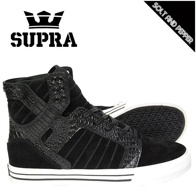 SUPRA スープラ FOOTWEAR SKYTOP BLACK SUEDE CROC ブラック 黒 WHITE ホワイト 白 スニーカー フットウェアー スカイトップ メンズ 男性 レディース 女性 スケート シューズ 靴 ストリート スケート カジュアル ブランド ハイカット 08003089 S18271 BLC