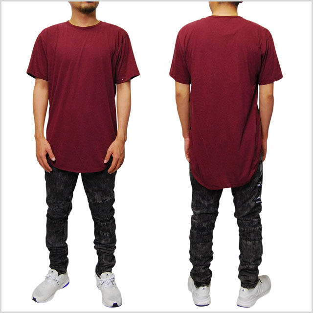 EPTM epitome TRIBLEND ROUND BOTTOM LONG TEE T-SHIRTS MAROON short sleeve  long length T shirt long-length T shirt Maroon men men ladies ladies TOPS  tops ... 6df57b537d1