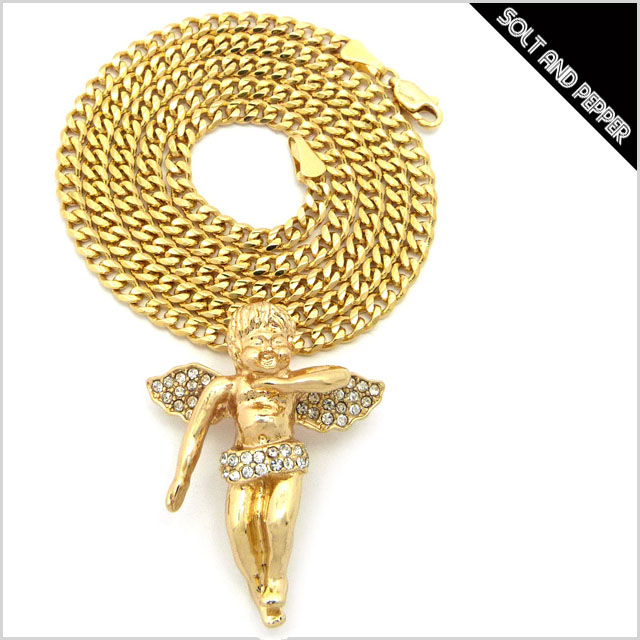 Solt and pepper rakuten global market no brand brand angel no brand brand angel necklace gold angel angel necklace gold chain gold men men women womens accessories accessory hiphop hip hop old school old school aloadofball Choice Image