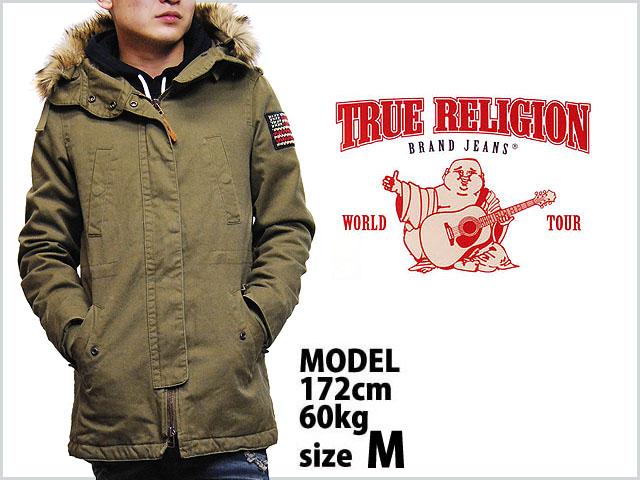 True religion fur hood mens parka jacket