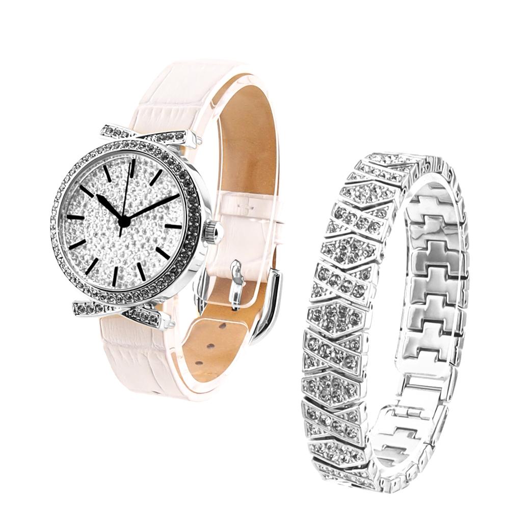 期間限定50%OFF (公式) アンコキーヌ Anne Coquine 腕時計 時計 パヴェストーン シルバーベゼル(白ベルト)+スワロシルバーベルト 1145-0101 ウォッチ ブランド 高級 スワロフスキー ゴージャス プレゼント ギフト