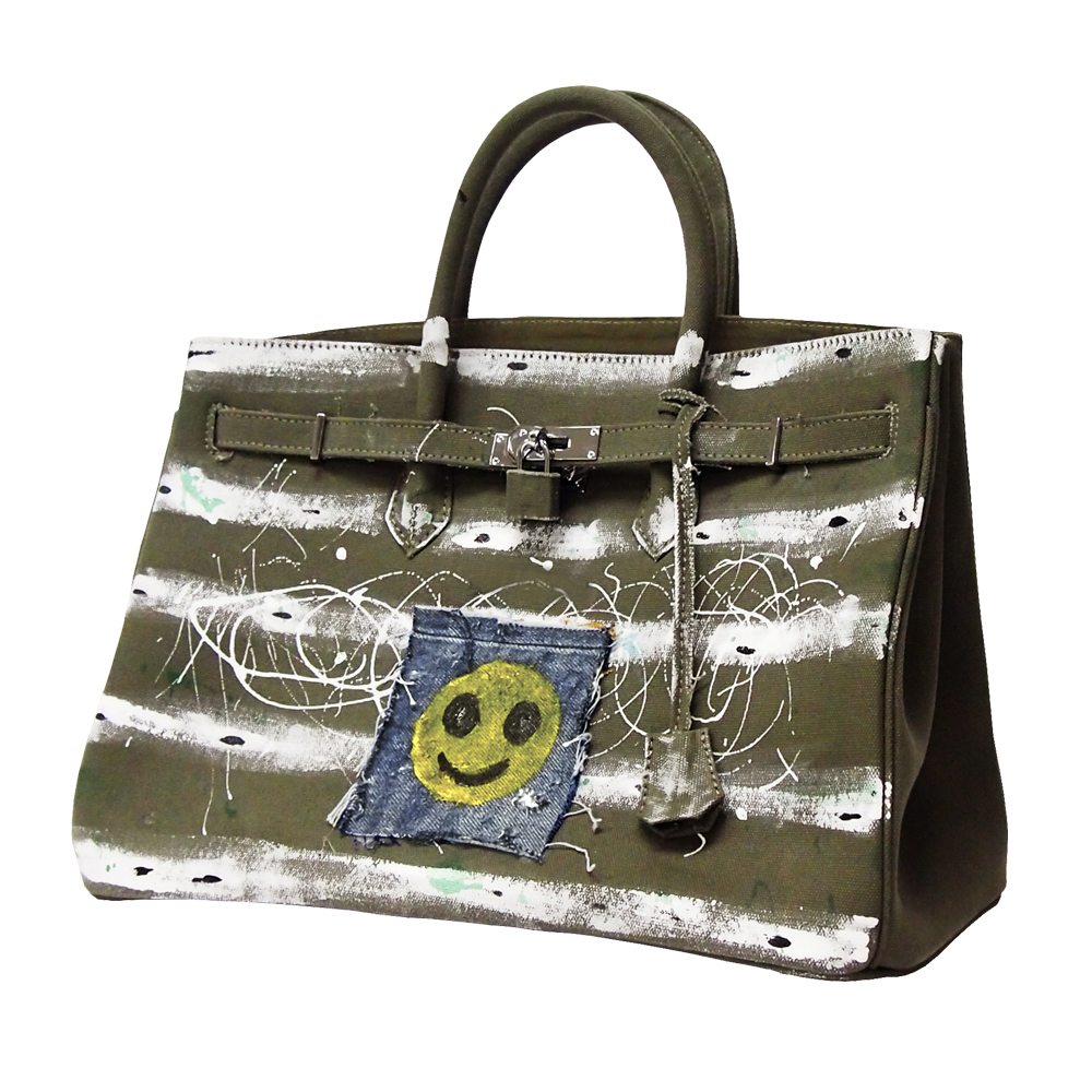 <カタヤマケンジ×Anne Coquine>コラボバッグ 2284-0034 バッグ フリーペイント キャンバス アーティスト コラボ プレゼント ギフト 父の日