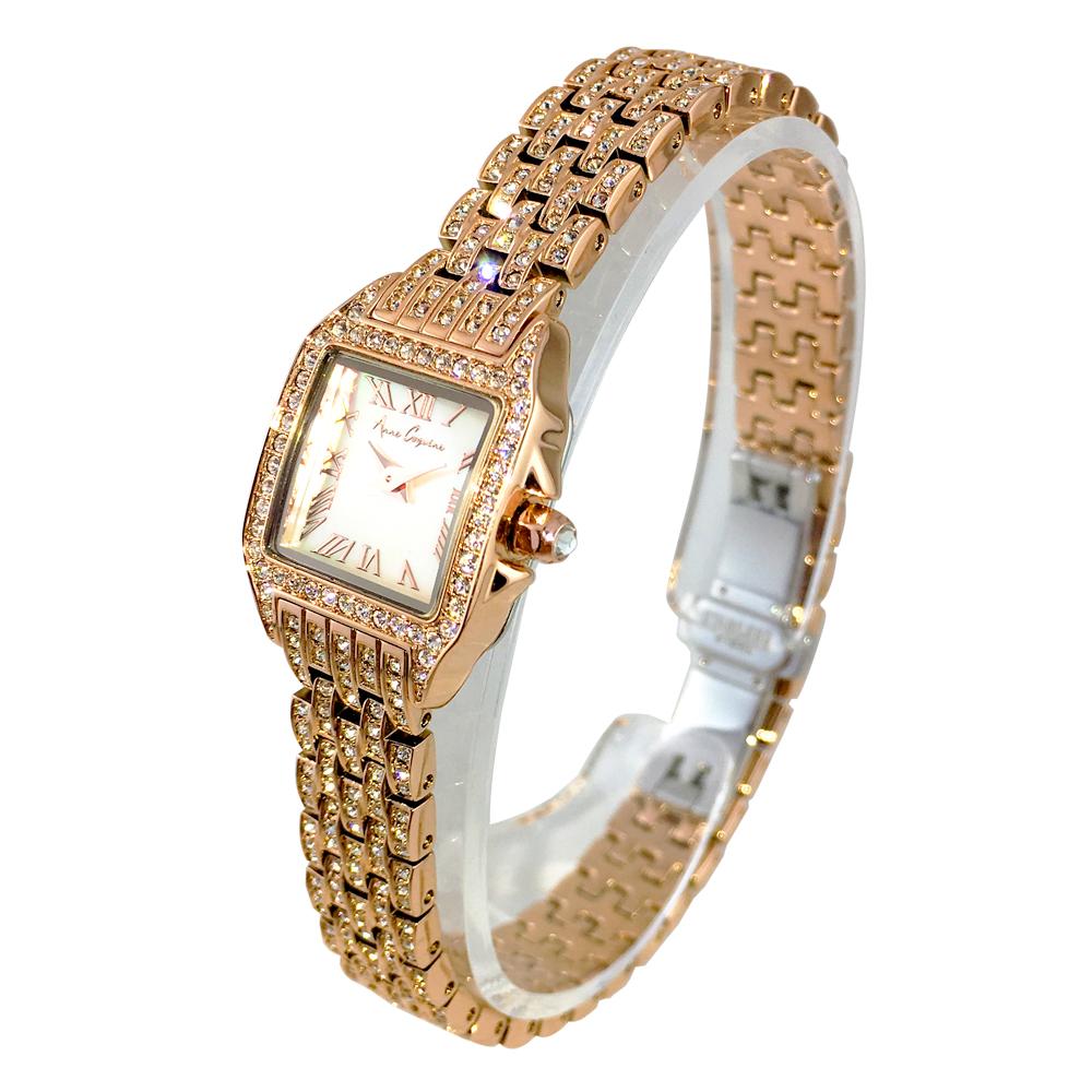 ALLビジューステンレス ミニスクエアー <ゴールド> 1232-1515 アンコキーヌ 時計 アクセサリー レディース 新作 腕時計 デザイン時計 ジュエルウォッチ スクエア アンティーク調 クラシック