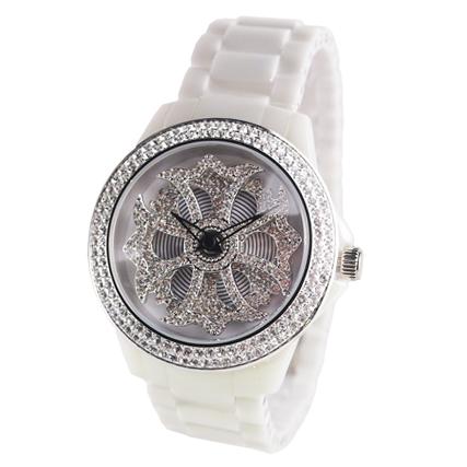 アンコキーヌ ぐるぐる時計【ミニ】 セラミッククロス【ホワイト】 1119-0101  ギフト プレゼント 新生活