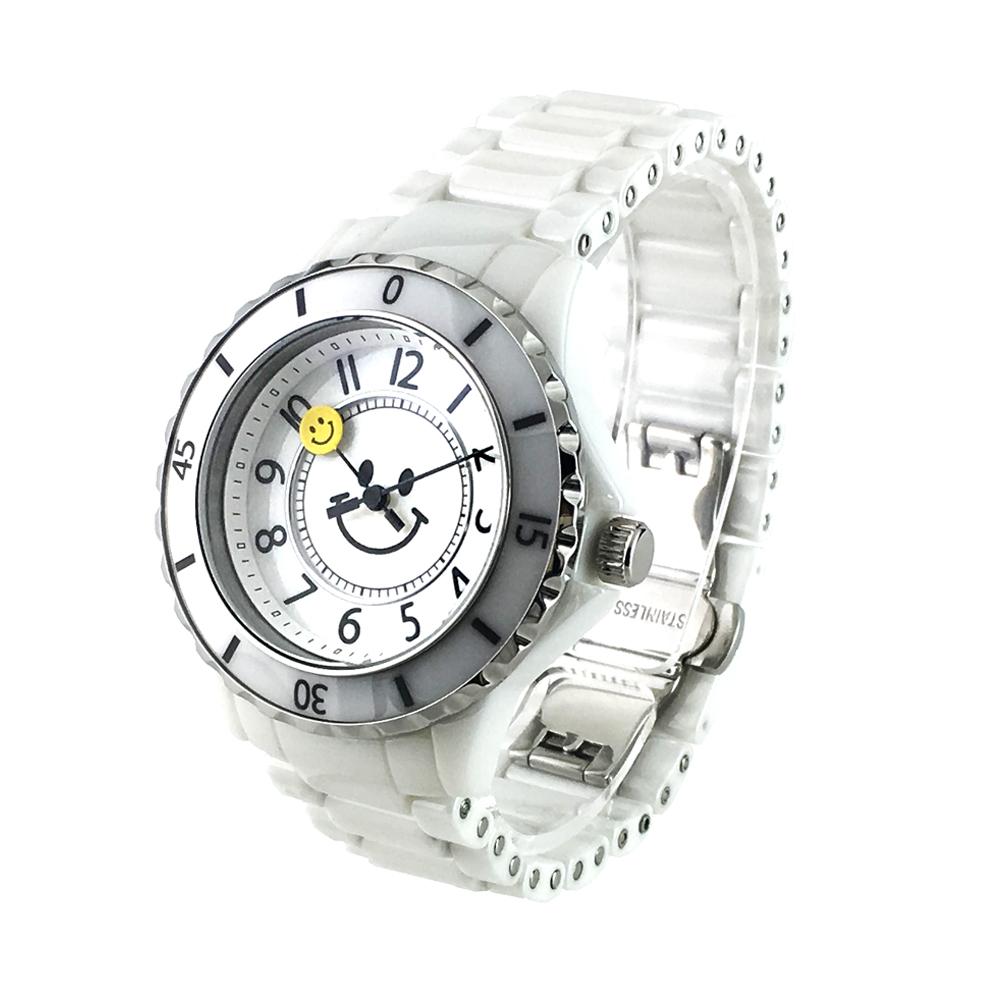ミニ セラミック スマイル<ホワイト×ホワイト>1135-0101