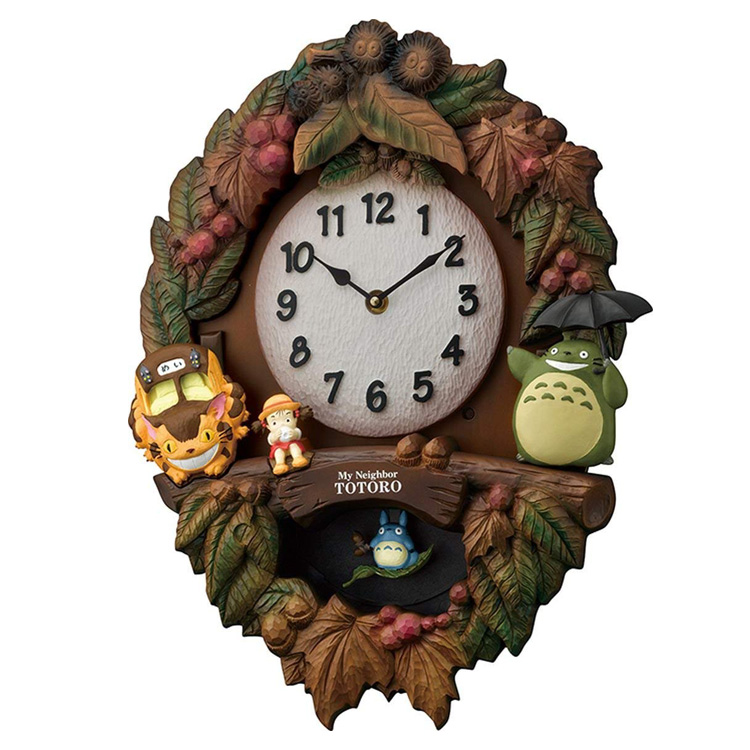 リズム時計 掛け時計 キャラクター時計 トトロM429 4MJ429-M06