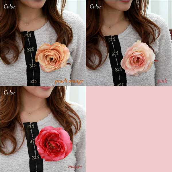 "It is good to graduation ceremony & entrance ceremony & four circle! Seven colors of silk flower Rose corsage hair accessories approximately 10.5cm in diameter ""rose Swarovski"" fs3gm"