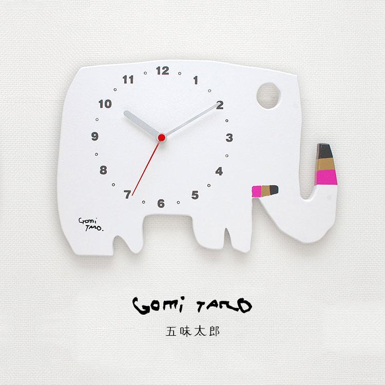 人気絵本作家 五味太郎デザイン GOMI TARO オリジナル時計 ゾウ 白 MADE IN JAPAN GT-ELEPHANT-WHT