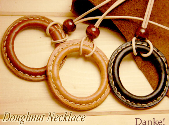 Hand-made ドーナッツネックレス leather accessories DAN-A10fs3gm