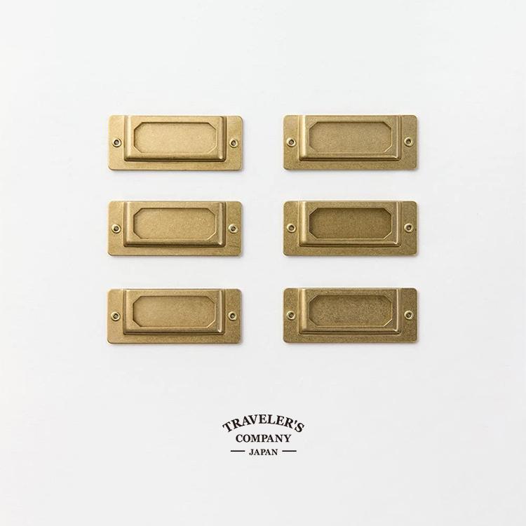 ランキング1位獲得 ブラス ラベル 気質アップ プレート TRAVELER'S トラベラーズカンパニー 日本限定 真鍮 COMPANY 82022006