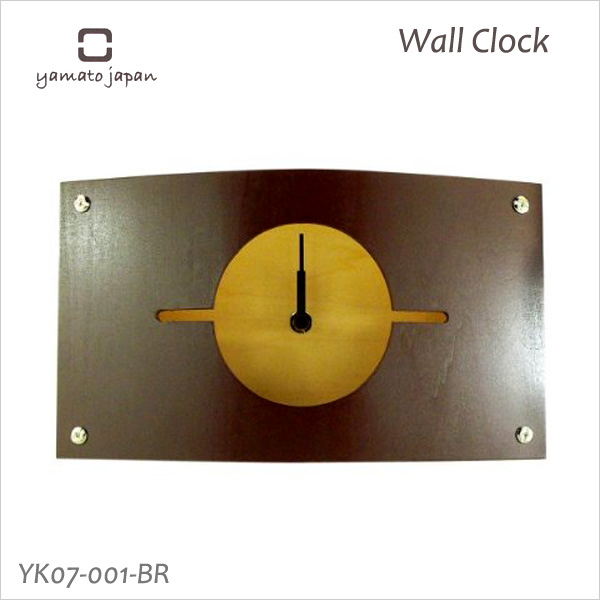 Put a design clock interior clock full of the warmth of the tree; 時計掛置兼用 clock WALL CLOCK S brown YK07-001 Yamato industrial arts fs3gm