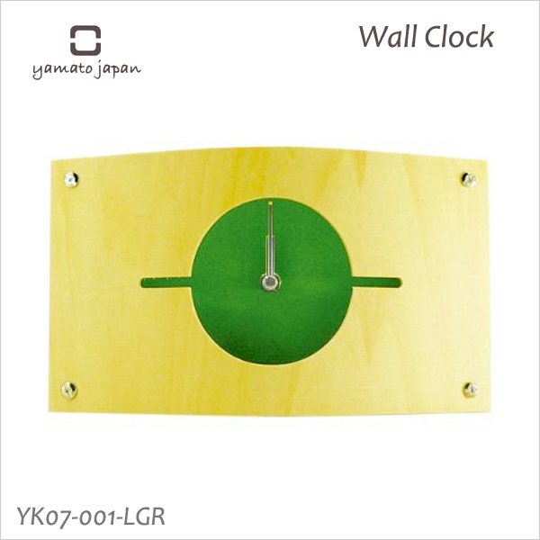 Put a design clock interior clock full of the warmth of the tree; 時計掛置兼用 clock WALL CLOCK S light green YK07-001 Yamato industrial arts fs3gm