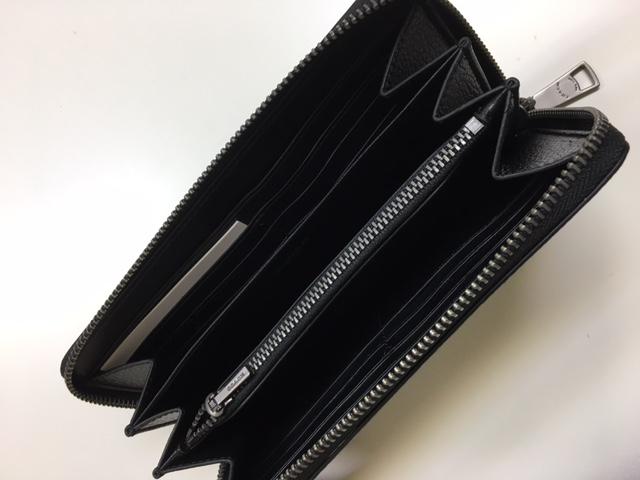教练和教练镶嵌皮革手风琴拉链长钱夹黑 F75445BLK