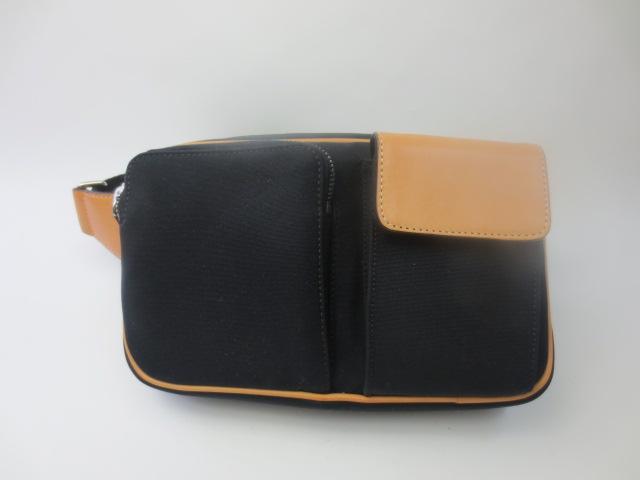 COACH / coach leather waist bag / bumbag FS5973BK/VA