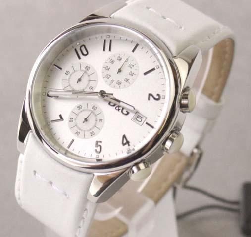 【ハッピーホリディSALE・箱等付属品なし】D&G TIME ドルガバ SANDPIPERクロノグラフ腕時計 ホワイト 3719770084 【ラッピング無料】