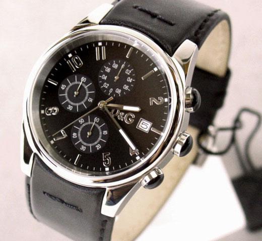 D&G TIME ドルチェ&ガッバーナ SANDPIPERクロノグラフ腕時計 ブラック 3719770097【ラッピング無料】【10P11Mar16】【05P03Dec16】