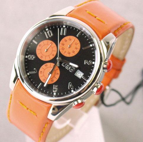 D&G TIME ドルチェ&ガッバーナ SANDPIPERクロノグラフ腕時計 ブラック×オレンジ 3719770107【ラッピング無料】【10P11Mar16】【05P03Dec16】