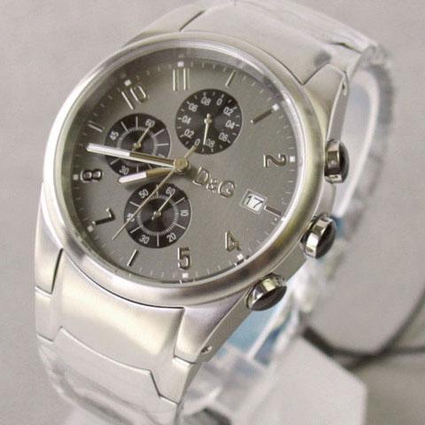 D&G TIME ドルチェ&ガッバーナ SANDPIPERクロノグラフ SSベルト腕時計 3719770123【ラッピング無料】【10P11Mar16】【05P03Dec16】