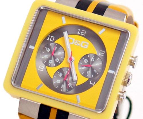 D&G TIME ドルチェ&ガッバーナ CREAM クロノグラフ腕時計 DW0063 イエロー×ブラック【ラッピング無料】【10P11Mar16】【05P03Dec16】